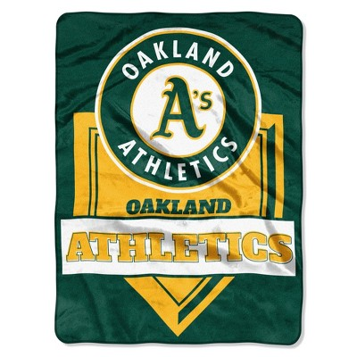 MLB Oakland Athletics Home Plate Raschel Throw Blanket