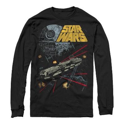 Men's Star Wars Millennium Falcon Battle Long Sleeve Shirt