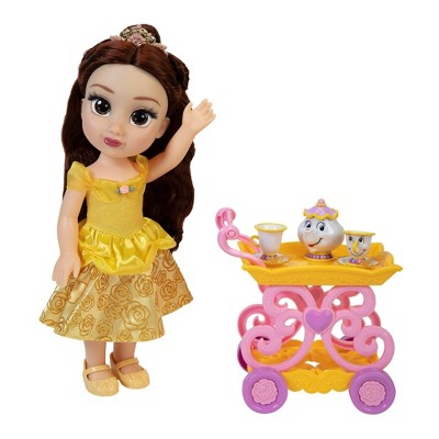 Disney Princess Doll Belle with Tea Cart