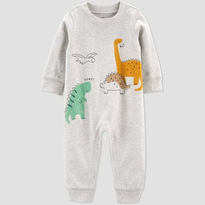 Baby Boys' Dino Jumpsuit - Just One You® made by carter's Heather Gray 6M