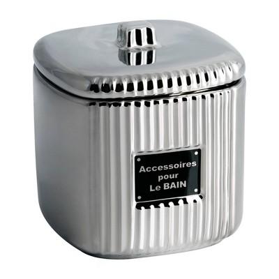 Le Bain Cotton Ball Jar Silver - Allure Home Creations