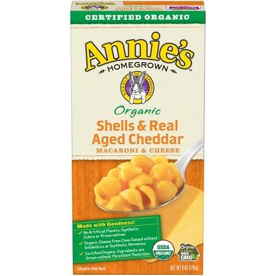 Annie's Organic Shells & Real Aged Cheddar Macaroni & Cheese Dinner 6oz