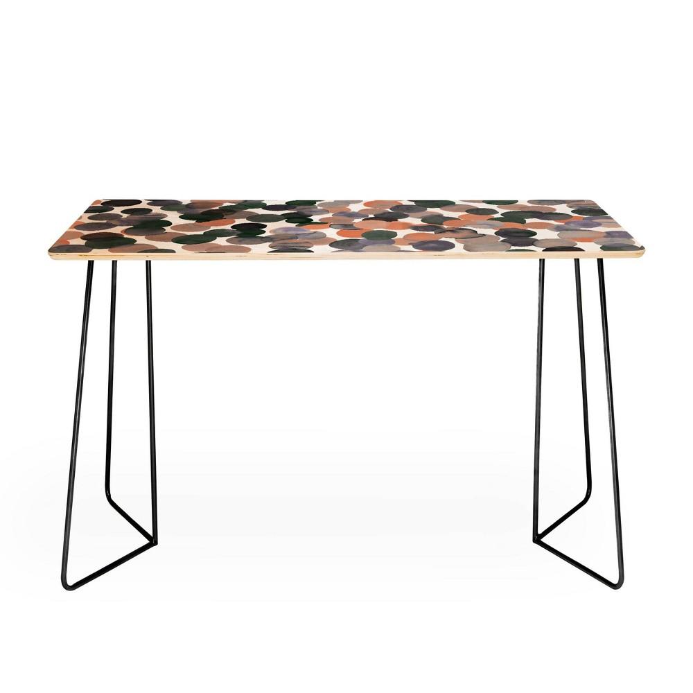Amy Sia Gracie Spot Desk Black Gray Deny Designs