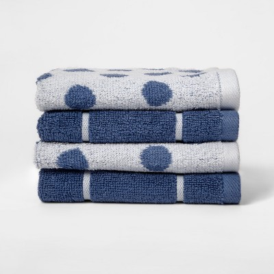 Woven Pattern Washcloth Blue - Project 62™