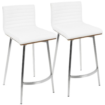 Set of 2 Mason Contemporary Swivel Counter Height Barstools - Lumisource