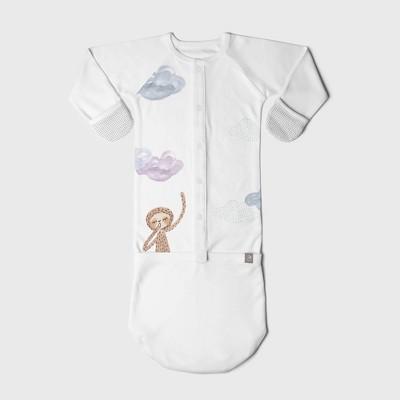 Goumi Baby Organic Cotton Dreams Full of Wonder Nightgown – White 3-6M