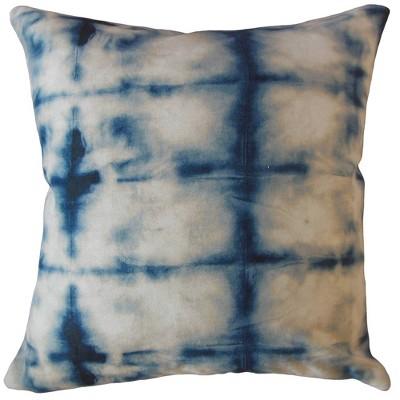 Square Throw Pillow White/Blue - Pillow Collection