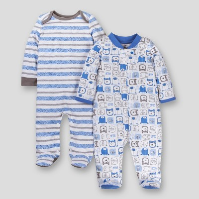 Lamaze Baby Boys' Organic 2pk Sleep 'N Play - Blue 3M