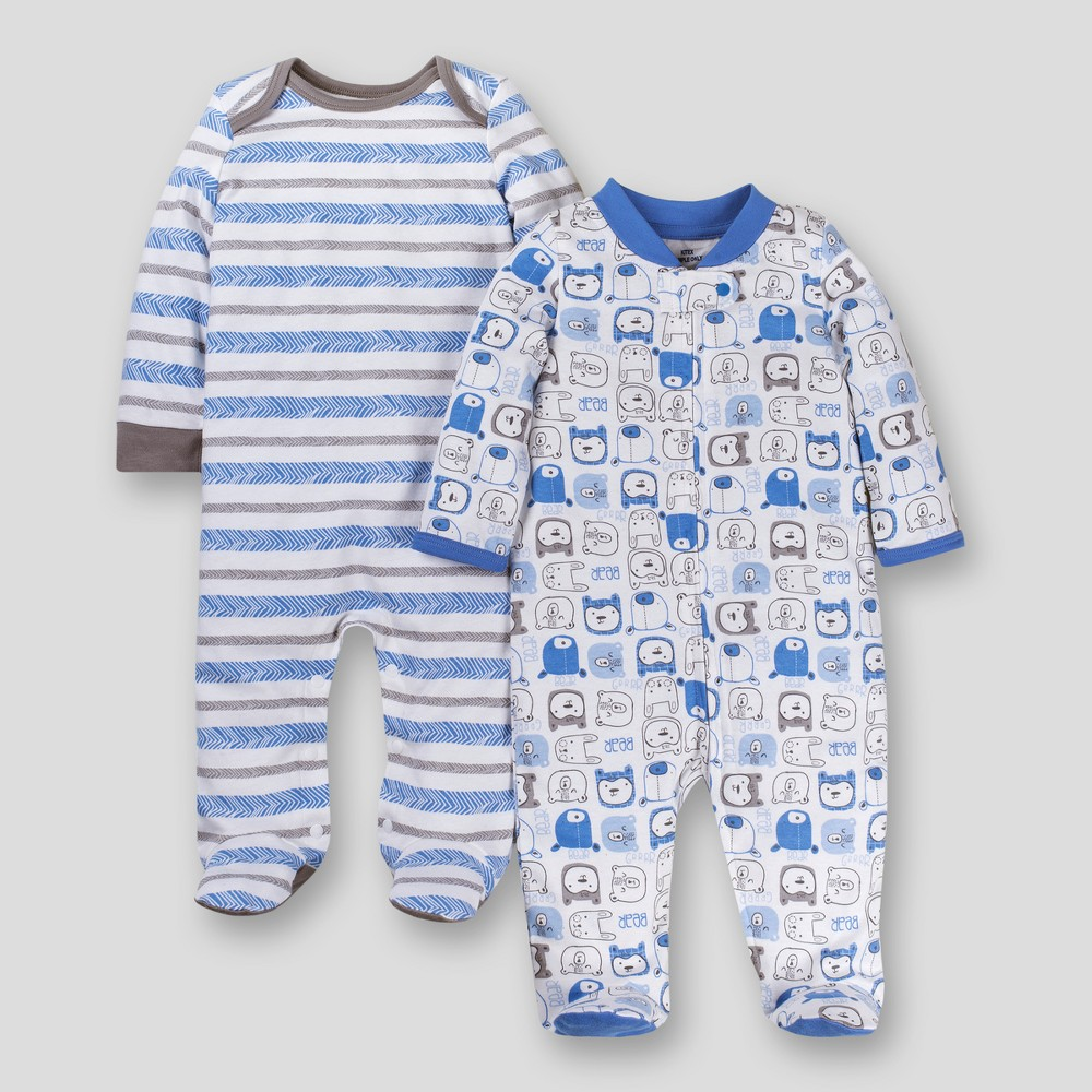 Lamaze Baby Boys' Organic 2pk Sleep 'N Play - Blue 9M