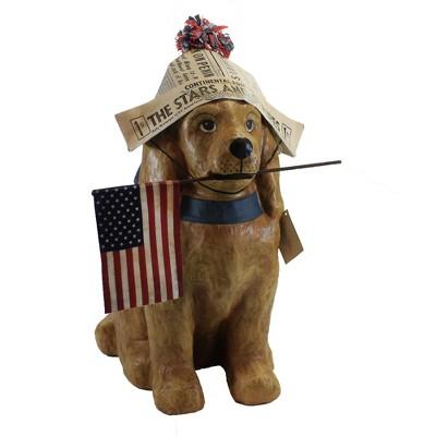 """Patriotic 21.5"""" Americana Dog Patriotic Flag Paper Hat  -  Decorative Figurines"""