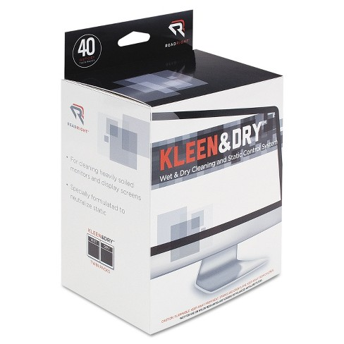 Read Right Two Step Screen Kleen Wet and Dry Cleaning Wipes 5 x 5 40/Box RR1305 - image 1 of 1