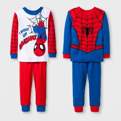 Baby Boys' Spider-Man 4pc Pajama Set - Red 12M
