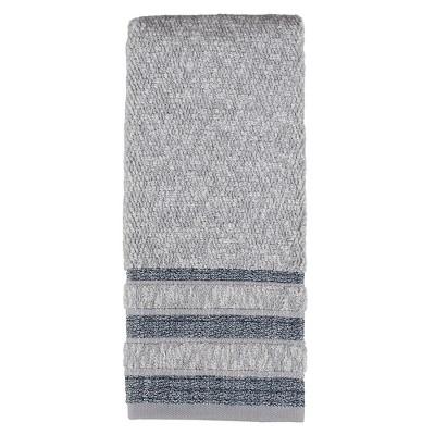 "SKL Home Cubes Modern Look Woven Textured Stripes Hand Towel - 16 x 26"", Navy"