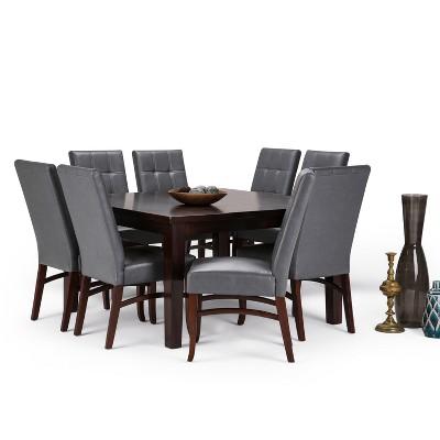 Ezra 9pc Dining Set Stone Grey   Simpli Home : Target