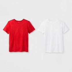 Boys' 2pk Adaptive Short Sleeve T-Shirt - Cat & Jack™ Red/White