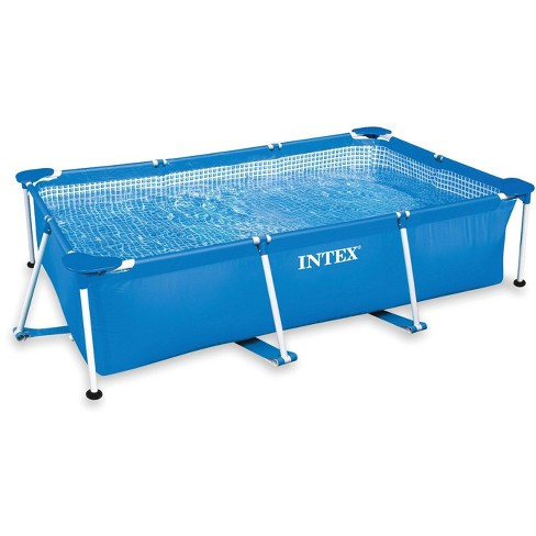 Intex 86 x 59 x 23 Inch Rectangular Frame Above Ground Baby Splash Swimming  Pool