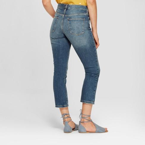 5e5c778915 Women's High-Rise Wide Leg Kick Boot Crop Jeans - Universal Thread™ Dark  Wash