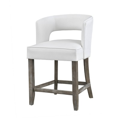 Osborn Contemporary Counter Height Barstool Brown - Treasure Trove Accents