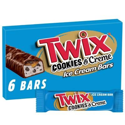 Twix Cookies & Creme Ice Cream Bars - 6ct