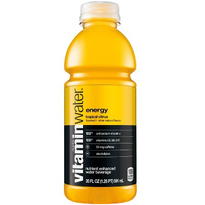 vitaminwater energy tropical citrus - 20 fl oz Bottle