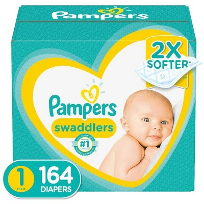 Pampers Swaddlers Disposable Diapers Enormous Pack - Size 1 (164ct )