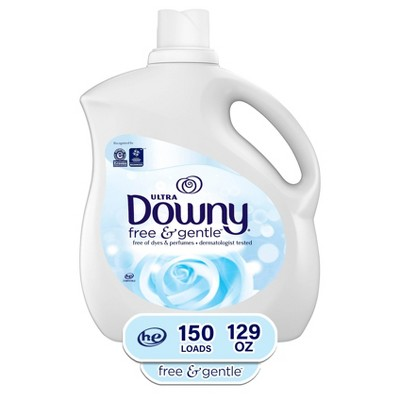 Ultra Downy Free & Gentle Liquid Fabric Conditioner (Fabric Softener)- 129oz