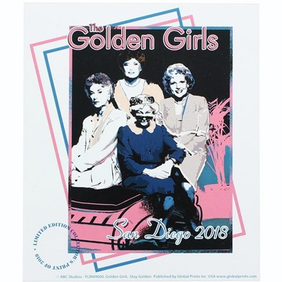 """Global Prints The Golden Girls 7"""" x 6"""" Print Poster SDCC Exclusive"""