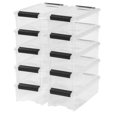 IRIS 10pk 5.7qt Plastic Storage Bin