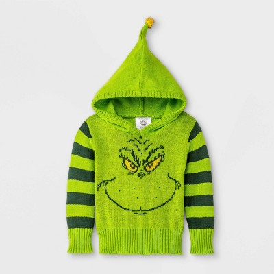 Baby The Grinch Pullover Sweater - Green