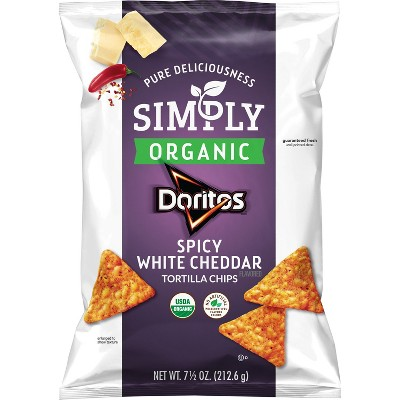 Simply Doritos Spicy White Cheddar - 7.5oz