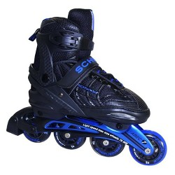 Schwinn Unisex Adult Adjustable Inline Skate - Black/Blue 8-9