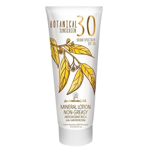 Australian Gold Botanical Mineral Sunscreen Lotion Spf30 5oz Target