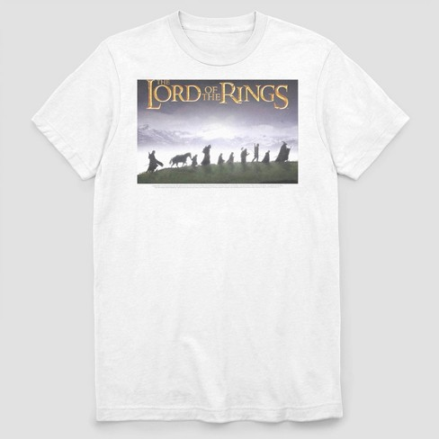 Men's FOX The Lord Of The Rings Fellowship Short Sleeve Graphic Crewneck T-Shirt - White - image 1 of 2