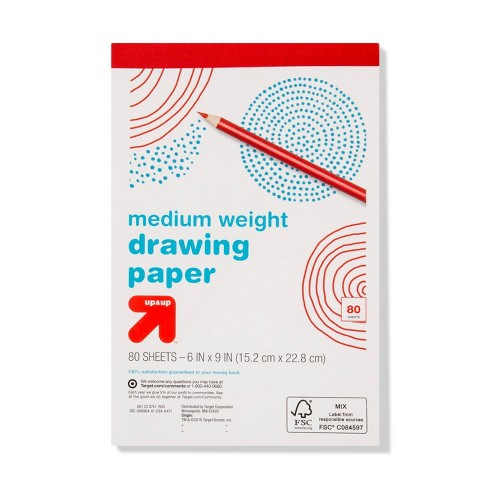 "6"" x 9"" 80 Sheets Drawing Paper Pad White - Up&Up™ - image 1 of 2"