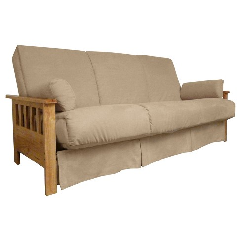 Mission Perfect Convertible Futon Sofa Sleeper - Natural Wood Finish ...