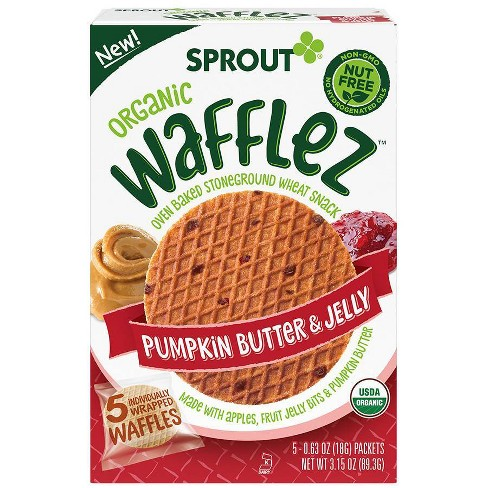Sprout Foods Organic Pumpkin Butter & Jelly Wafflez Toddler Snacks - 3.15oz - image 1 of 4