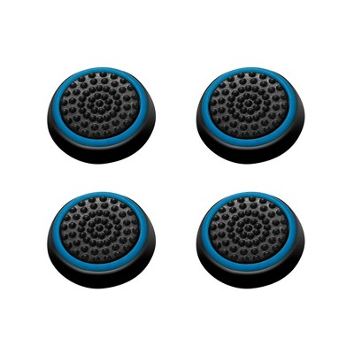 INSTEN 4-piece Set Controller Analog Thumbstick Cap Thumb Grips Analog Cover, Black/Blue For Xbox One Xbox 360 / PS4 PS3 PS2