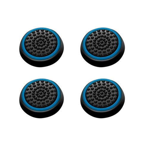 INSTEN 4-piece Set Controller Analog Thumbstick Cap Thumb Grips Analog Cover, Black/Blue For Xbox One Xbox 360 / PS4 PS3 PS2 - image 1 of 3