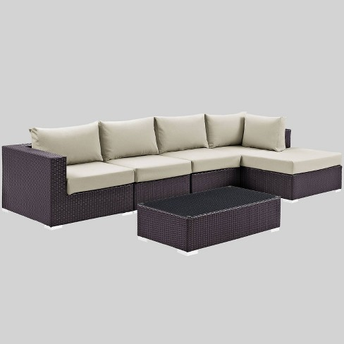 Convene 5pc Outdoor Patio Sectional Set - Modway - image 1 of 2
