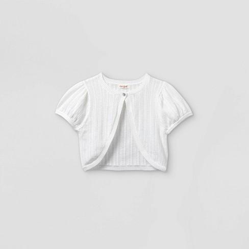Girls' Shrug Short Sleeve Sweater - Cat & Jack™ - image 1 of 2