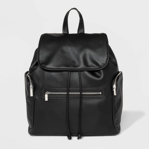 Flap Backpack - Wild Fable™ Black - image 1 of 4