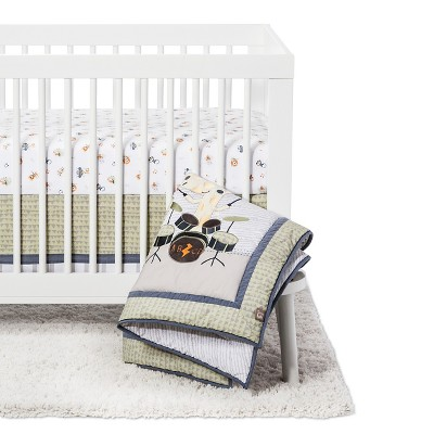 Trend Lab 6 Piece Crib Bedding Set - Safari Rock Band