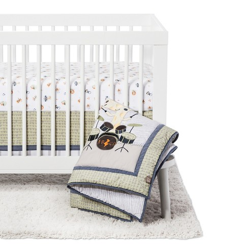 Trend Lab 6 Piece Crib Bedding Set - Safari Rock Band - image 1 of 7