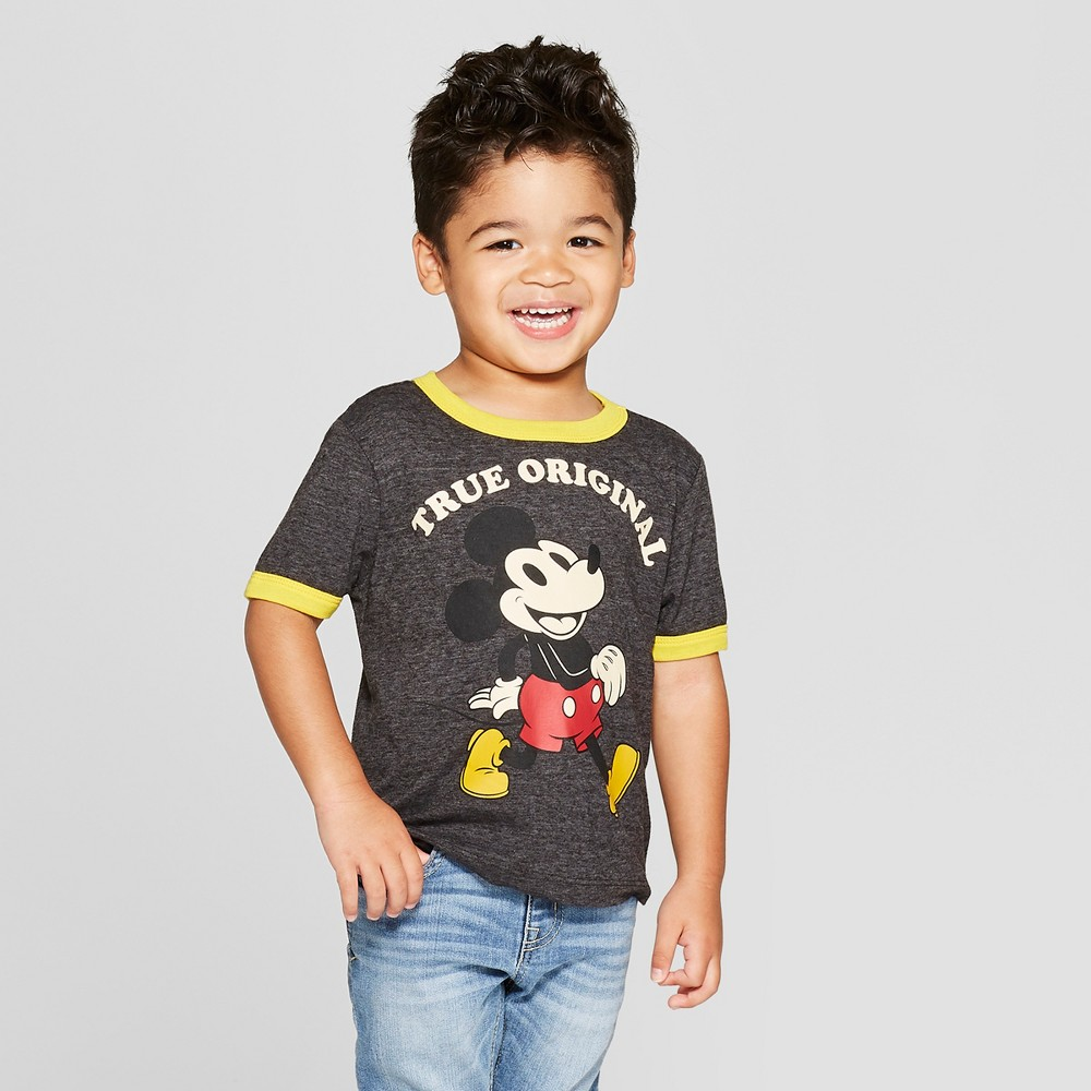 Toddler Boys' Disney Short Sleeve T-Shirt - Black/Yellow 4T