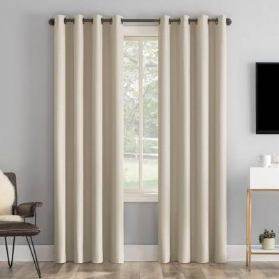 Tyrell Tonal Textured Draft Shield Fleece Insulated 100% Blackout Grommet Top Curtain Panel - Sun Zero