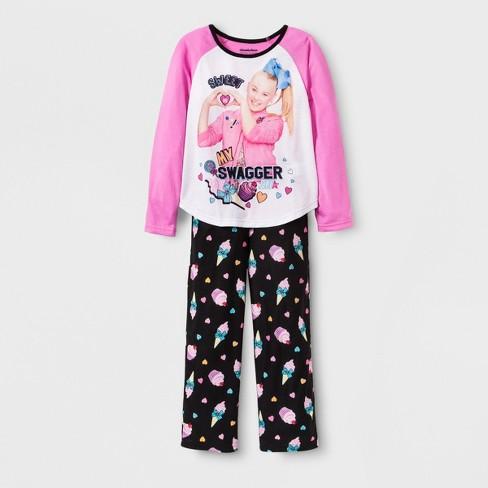5400ffed0 Girls  JoJo Siwa 2pc Pajama Set - Pink Black   Target