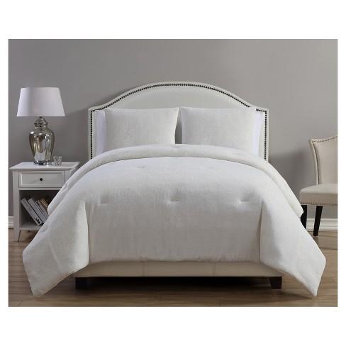 White & Gold Gabriella Metallic Plush Comforter Set   VCNY® : Target