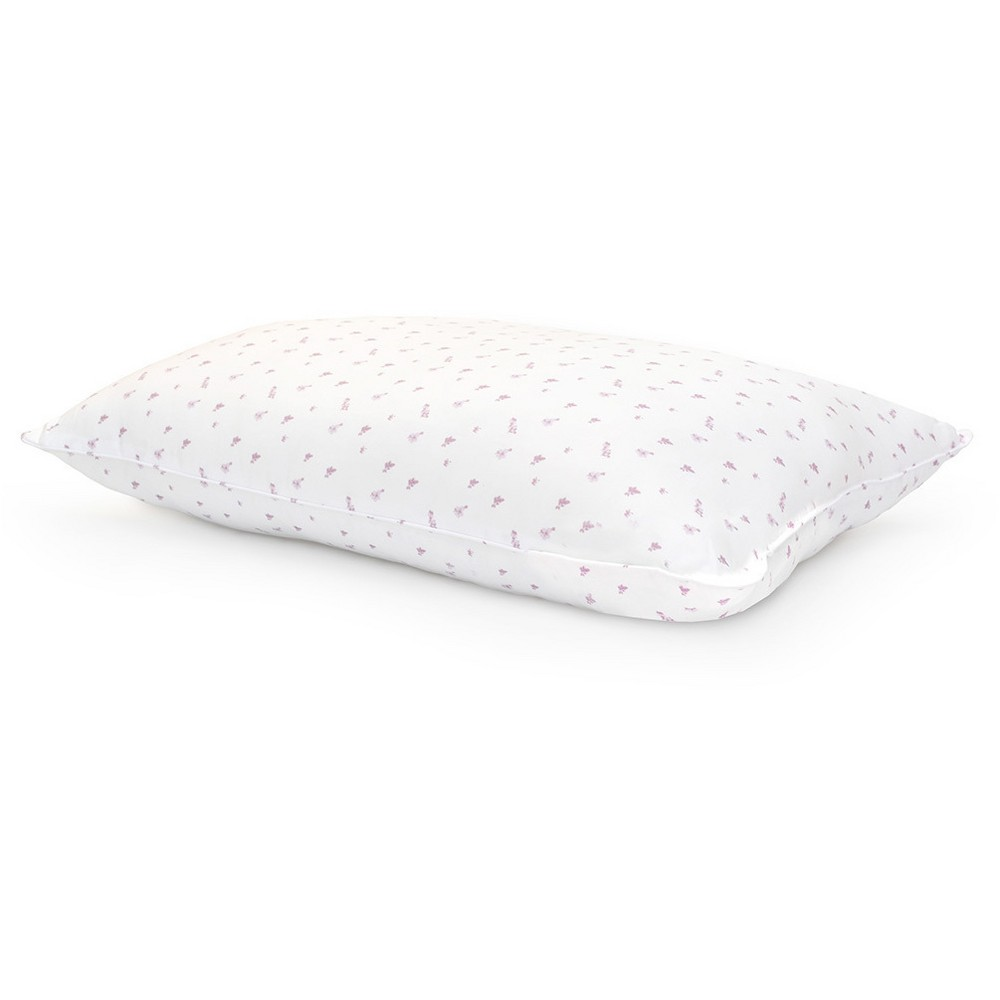 Image of Abbeville Down Alternative Bed Pillow (Jumbo) White & Purple - Laura Ashley