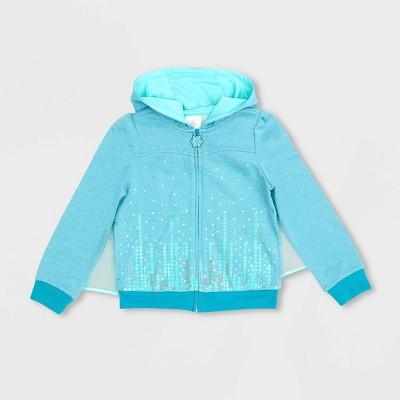 Girls' Disney Frozen I Am Elsa Activewear Sweatshirt - Blue - Disney Store