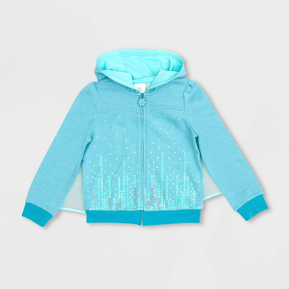 Girls 39 Disney Frozen I Am Elsa Activewear Sweatshirt Blue 9 10 Disney Store